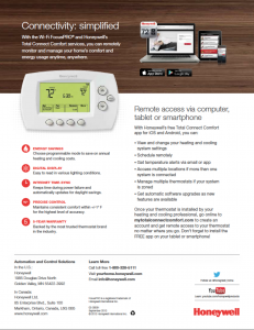 Honeywell Focus Pro 6000 thermostat