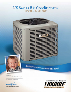 Luxaire TCJF 16-SEER 1-stage air conditioning