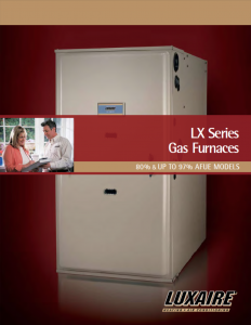 Luxaire TM gas furnace